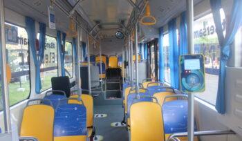 Ilustrasi kabin bus listrik BYD yang diuji coba oleh Transjakarta